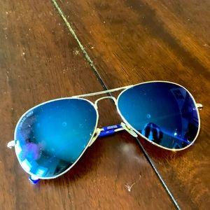 Michael Kors Blue Dylan Aviator Sunglasses